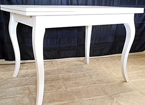 Table rectangulaire extensible blanc