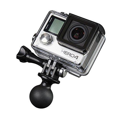 Mantona 21036 RAM Befestigungsadapter (für GoPro Hero 6 5 4 3+ 3 2 1, Session und andere kompatible Action Cams, RAM Kugelkopfhalter für Aktionkameras) - Cam Der Ram