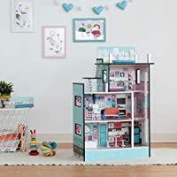 "Teamson Kids TD-13111D Large 3.5"" Dolls House, Blue"