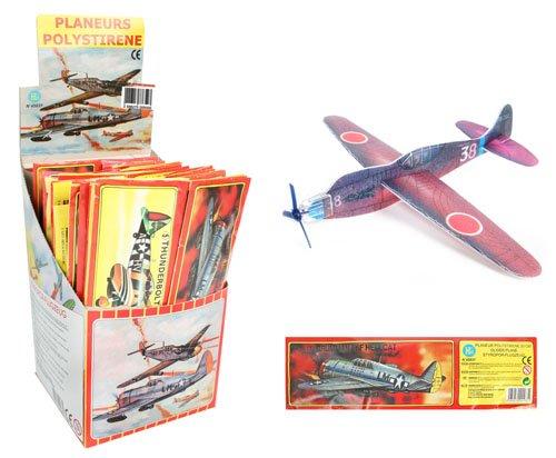 anniversaire-kermesse-pack-de-12-avions-styrol-a-monter-polystyrene-18-cm-anniversaire-garcon