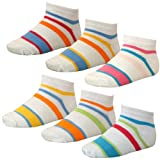 12 Paar farbenfrohe Kinder Sommer Sneakers weiß mit bunten Streifen