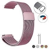 PalmTalkHome Bracelet de Ceinture milanaise de 22 mm avec Boucle magnétique pour...