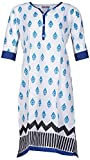 Bunkaari India Women's Cotton Regular Fit Kurti (00LK 17_44, White, 44)