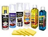 #9: MAX Premium Car Care Kit (incluides Dashboard & Tyre Shiner 200 ML + Clean and Shine Polish 200 ML + Liquid Wax Polish 200 ML + Vinyl and Leather Polish 200 ML + Windshield Washer 250 ML + Car Shampoo Cum Polish 250 ML + Foam 4 Pcs.)