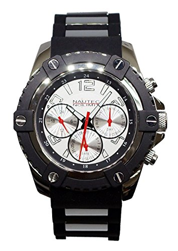 Nautec No Limit Glacier Men's Wristwatch, 2 Analogue Quartz Rubber GLAC2-QZ-RBST-WH