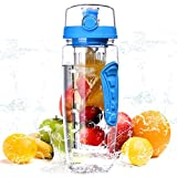 XIYUNTE Fruit Infuser Water Bottle BPA-Free - 34 oz Tritan Fruit Infusion Sports
