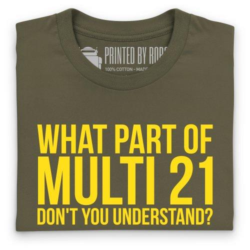 Understand Multi 21? T-Shirt, Herren Olivgrn