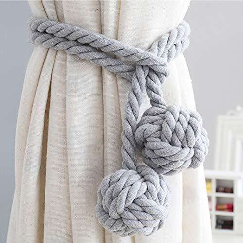 EisEyen 1 Paar Handgestrickte Vorhang Seil Raffhalter Vorhang Clips Baumwolle Schnalle Halter für Haus Dekoration