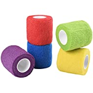 Jalan Self Adherent Bandage, Pet Vet Wrap bulk stretch Tape for Wrist, Ankle Sprains & Swelling, Assorted Color