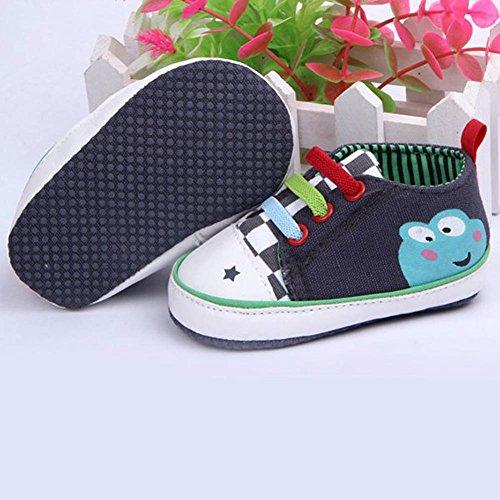 Etosell Chaussures de Lit Sport en Toile à Lacets pour Bébé Unisexe 0-12 mois (12(4 - 8 mois), Bleu) Bleu