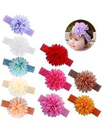 Itaar Baby Haarband mischen Farbe elastisch Blumen Muster Stirnband 8-10 PCs