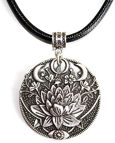Tolma Halskette Lotus und Dreifach-Mond mit Duplexdruck - Ideales Geschenk für Frauen, die...