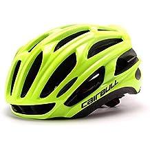 Casco de bicicleta Queshark Casco de bicicleta MTB Casco de bicicleta ultraligero (Verde fluorescente)