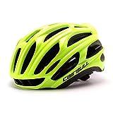 Queshark Casco de Bicicleta Casco de Bicicleta MTB Casco de Bicicleta Ultraligero (Verde Fluorescente)