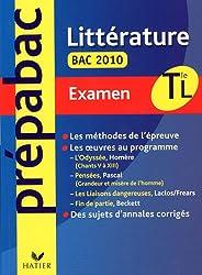 Prépabac examen littérature Terminales L