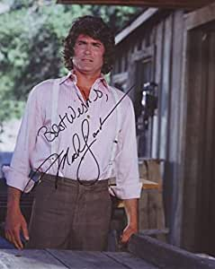 Michael Landon Signé Autographe Signé 21cm x 29.7cm affiche de photo