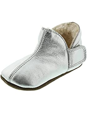 EnFant Unisex Baby Krabbelschuhe/Hausschuhe, Gefüttert, Leder/Schurwolle, Adventure Slipper Wool, 812150