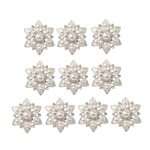 10x Blumen Flatback Strasssteine Kristall Flache Rücken Schmucksteine Glitzersteine zum Aufnähen