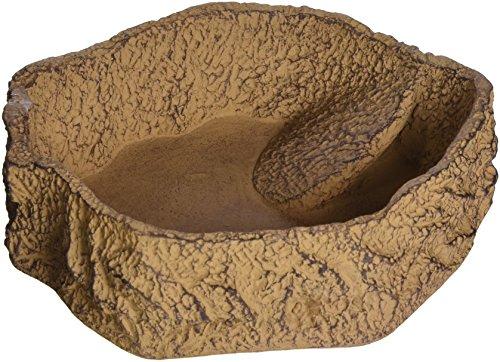 JBL 71086 Futter, Trink und Badenapf für Terrarientiere, ReptilBar, XL, sand