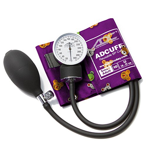 ADC 760–10saad prosphyg Pocket Aneroid Sphygmomanometer with adcuff Nylon Blutdruckmanschette, kleine Erwachsene, Tiere Print
