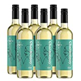 Marca Amazon - Compass Road vino chardonnay, producido en Francia - 6 botellas de 750 ml