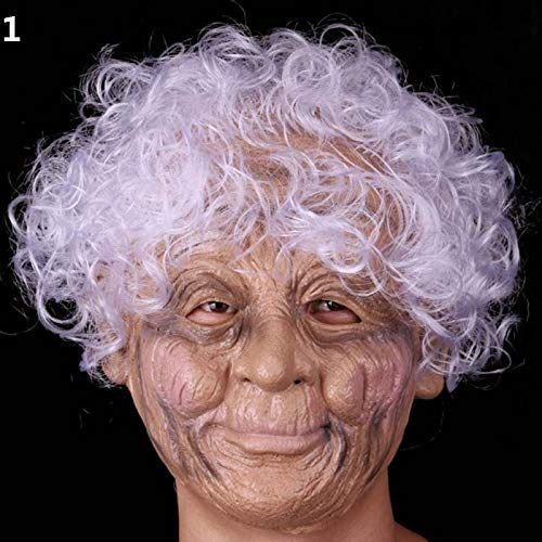 Dodom Party Erwachsene Scary Old Woman Oma    Vollgesichts Latex   Masken Weihnachten Halloween Navidad