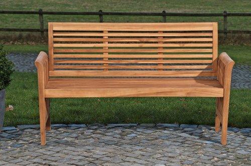 CLP solide Teak-Gartenbank ANGEL aus massivem Teakholz (aus bis zu 5 Größen wählen) 180x64x92 cm - 2