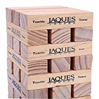 Jaques of London Tumble Tower - Classic Wooden Game - Our Games Blocks Build up to 1ft Tall During Play Trusted Toys and Games Since 1795