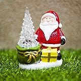 Weihnachten Dekoration Santa Claus Keramik Puppe Weihnachtsmann - grüne Geschenktüte Aufhängen Deko für Zuhause, Kaminsims, Weihnachten