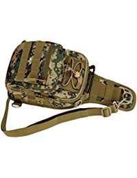 Camouflage 4 In 1 Pack - MOLLE Shoulder Bag Chest Bag Handbag/ Backpack With Adjustable Strap Travel Mountaineering...
