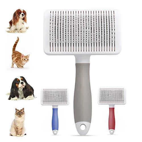 Magichome - spazzola per rimuovere il pelo di cani e gatti, con setole flessibili in acciaio inox, per la pulizia e il massaggio dei tuoi animali domestici
