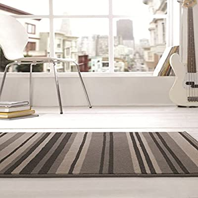Element Grey/Black Canterbury Rug Rug Size: 160cm x 120cm (5 ft 3 in x 3 ft 11 in) - inexpensive UK light shop.