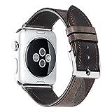 für Apple Watch Armband Uhrenarmband 38mm 42mm 40mm 44mm iStrap Grobe Textur Ersatz Lederarmband Sport für Apple Watch Band iwatch Series 1 Series 2 Series 3 Series 4