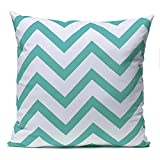 Bluelover-Vintage-Zig-Zag-imprim-coussin-couverture-Home-Decor-Throw-Pillow-Case-bleu-ciel