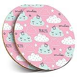 Destination Vinyl ltd - Posavasos (2 Unidades), diseño de Nubes de Princesas Rosas