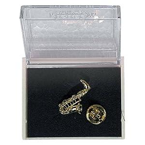 GEWA Unisex-Brosche Anstecknadel Saxophon, goldfarbig – 980038