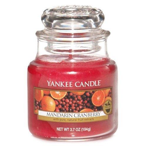 Yankee Candle Glaskerze, klein, Mandarin Cranberry