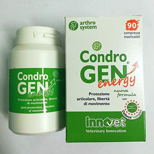 Erwachsenen-formel, 60 Tabletten (Innovet s.r.l CONDROGEN Energy 90 Tabletten, ergänzendes Futter für Hunde, Neue Formel mit Oxiforce Complex)