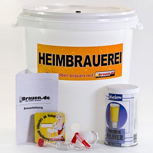 Bierbrauset Pils - Pilsner selber brauen (12 - 20 Liter) - Ideal für Brauset Anfänger oder als Bier Geschenk, inklusive Brauanleitung
