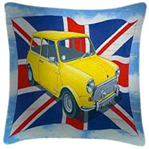 Avant de voiture à British Mini-Martin Wiscombe-Art Coussin Impression