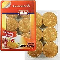 """Hamburger tischfertig zubereitet- unsere""""6 Pfiffigen Mini Burger"""" im Hamburgerbrötchen- Das Beste vom Besten- Das Original von Dieter Hein im Frischepack"""
