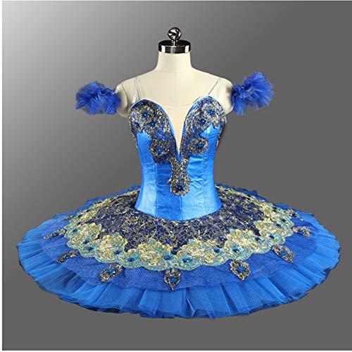 DILIKEXUE Blue Swan Classic Ballett-Tutu Professionelle Custom Blue Bird Ballett Wettbewerb Leistung Kostüm - Tanz Bird Kostüm