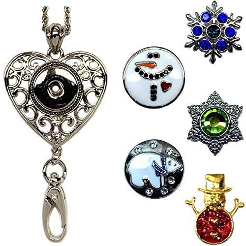 Schmuck-Set mit Schlüsselband und 5 Karabineranhängern Lh Winter