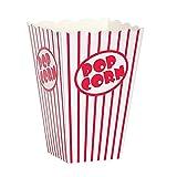 Unique Party 59022 - Scatole di Popcorn, Confezione da 10