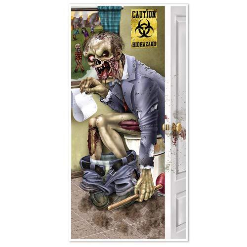 Beistle 00146Salatbesteck Zombie WC Tür, 76,2cm X 5', Multicolor