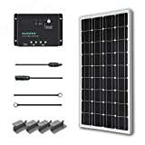 Renogy 100 Watts 12 Volts Monocrystalline Solar Starter Kit Off Grid Solar Panel Kit:1pc 100W Mono Solar Panel+ 30Amp PWM Charge Controller+ 20ft 10AWG MC4 Adaptor Kit+ 8ft 10AWG Tray Cable+ 1 set of Z-brackets
