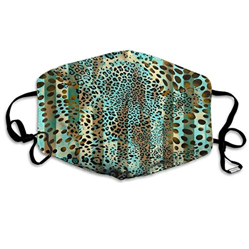 Daawqee Staubschutzmasken, Animal Prints Face Masks Breathable Dust Filter Masks Mouth Cover Masks with Elastic Ear Loop