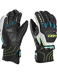 Leki Worldcup Race Flex S Junior dedos guantes Negro negro Talla:4