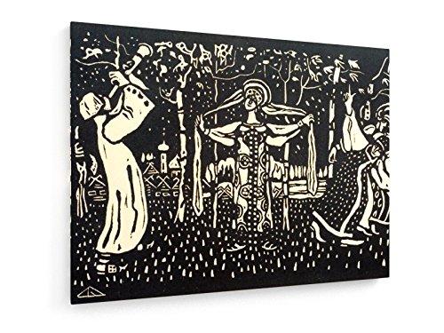 Schalmei - Heliogravüre 1907-40x30 cm - Textil-Leinwandbild auf Keilrahmen - Wand-Bild - Kunst, Gemälde, Foto, Bild auf Leinwand - Alte Meister/Museum (Russische Volkstracht)