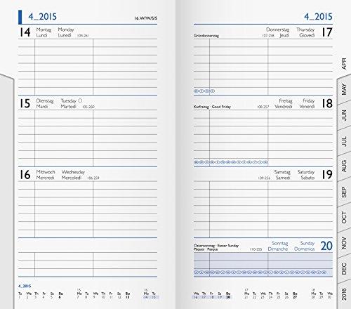 BRUNNEN 1075600 Taschenkalender/Wochen-Sichtkalender Ersatzkalendarium Modell 756 (2 Seiten = 1 Woche, 8,7 x 15,3 cm, Karton-Umschlag, Kalendarium 2020)